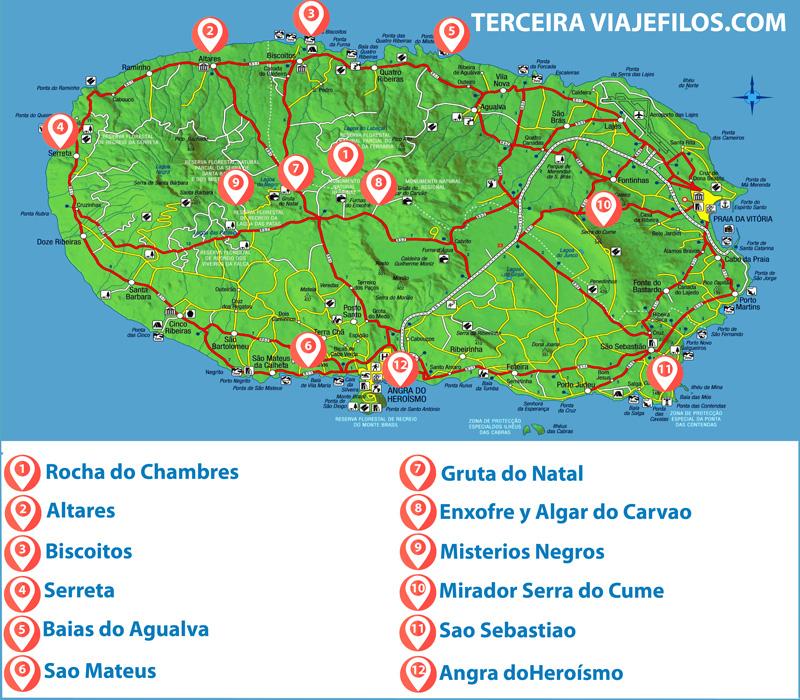 Visitas en Terceira