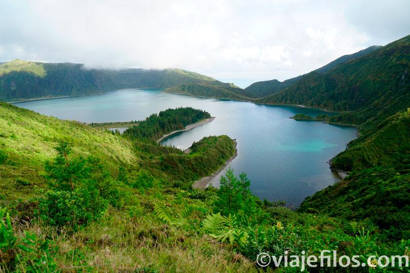 Mirador de la Lagoa do Fogo en Azores