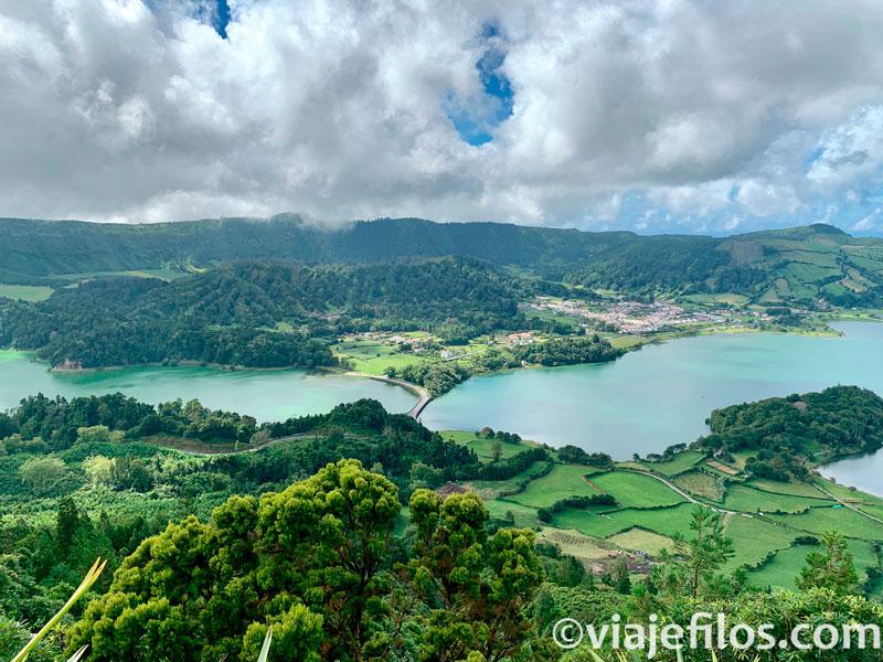Los miradores de Sete Cidades de Sao Miguel en Azores