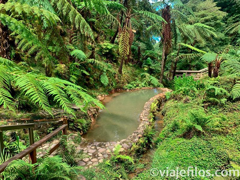 Parque Nacional de Caldeira Velha en Azores