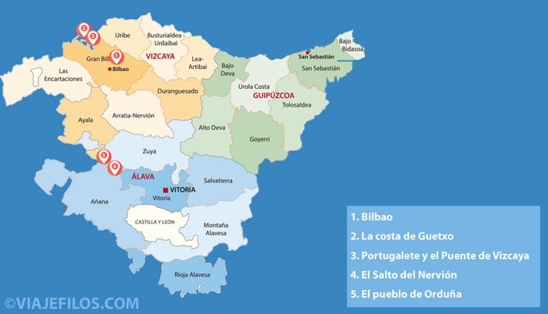 Bilbao y la costa de Guetxo