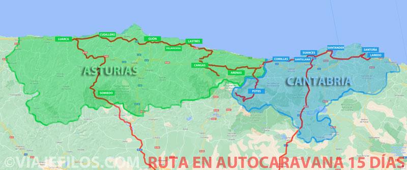 15 días en autocaravana recorriendo Asturias y Cantabria