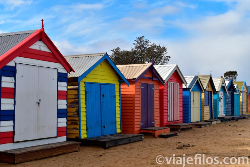 Casitas de colores de Brighton Beach