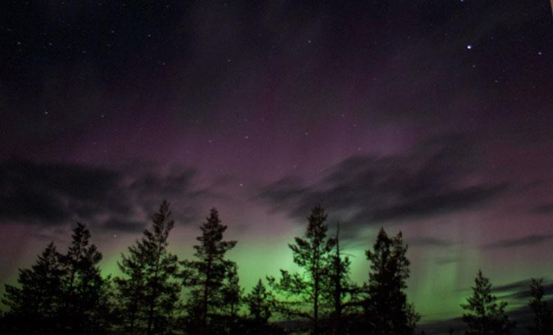 Auroras boreales en Laponia, uno de los mejores lugares dónde ver auroras boreales