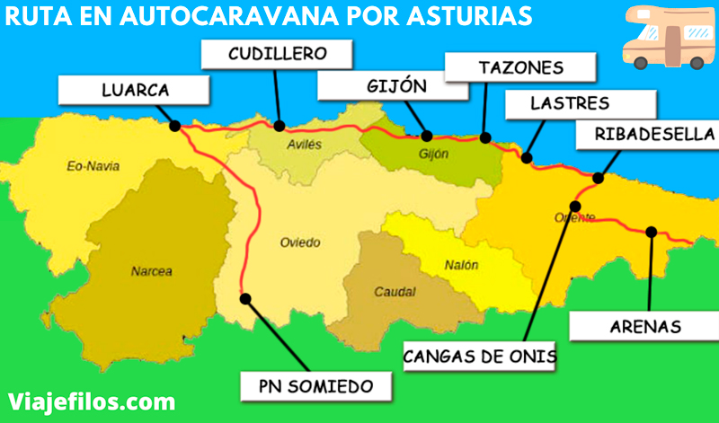 Ruta por Asturias en autocaravana