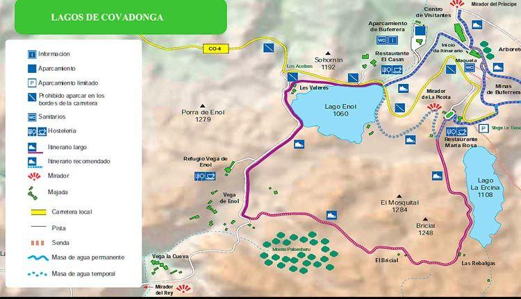 Ruta circular en los lagos de Covadonga