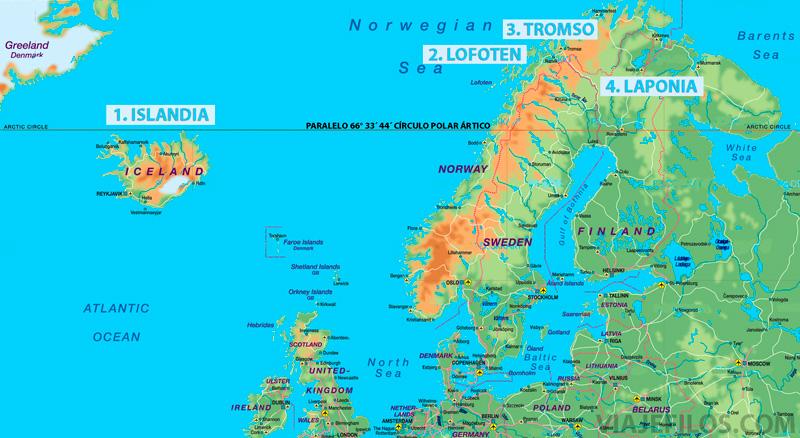 Los mejores destinos de Europa para ver auroras boreales