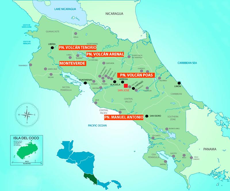 Ocho días de viaje en Costa Rica