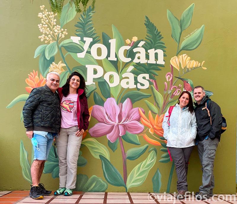 La visita al PN del volcán Poas de Costa Rica