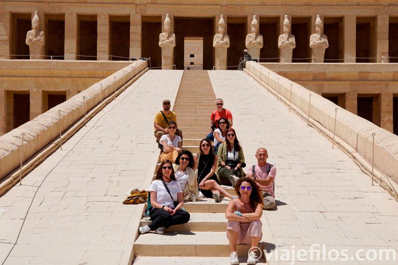 Templo de Hatshepsut en pandemia
