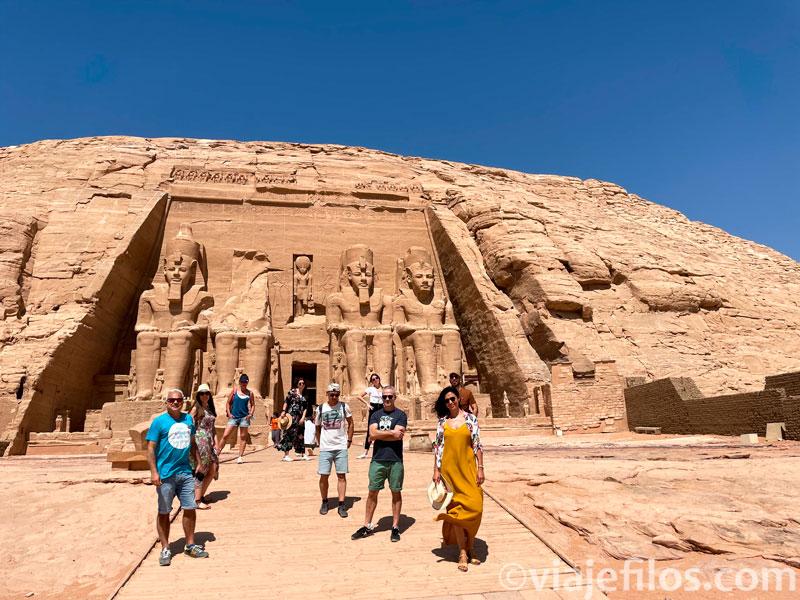 La visita del complejo de Abu Simbel en tiempos de pandemia