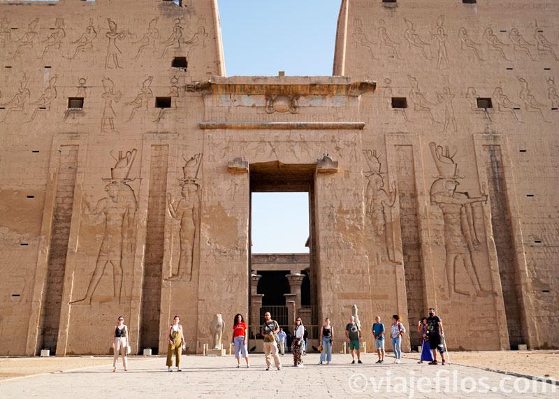 El templo de Edfu, la visita en pandemia
