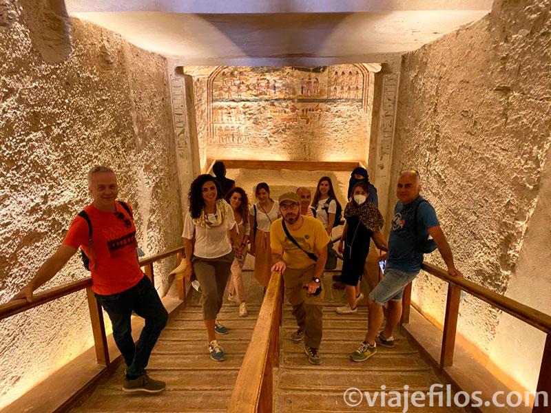 Visitando las tumbas de el Valle de los Reyes