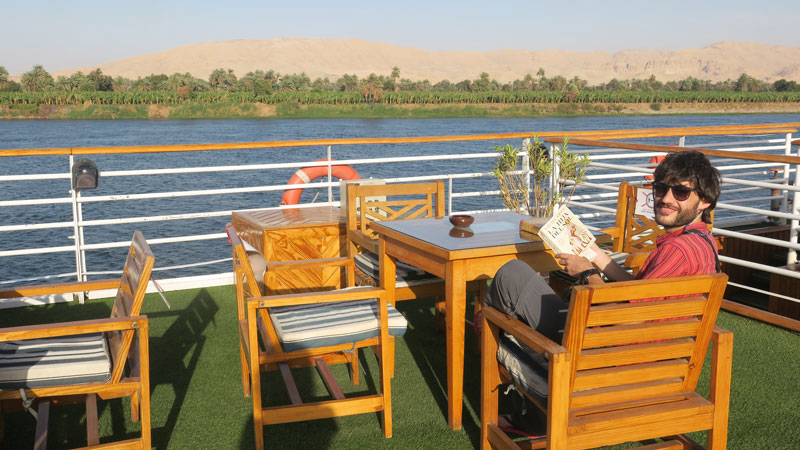 Blue Shadow, uno de los barcos que navegan por el Nilo