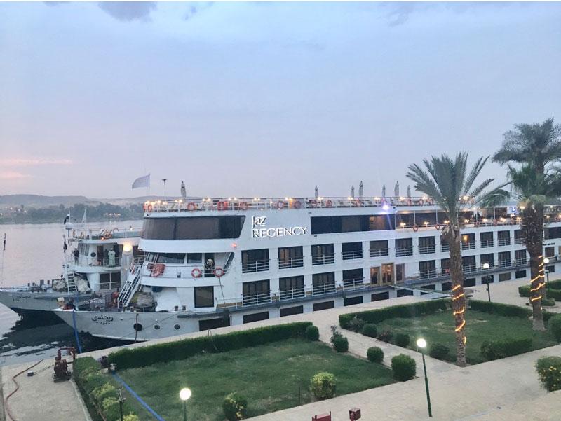 Jaz Regency, uno de los barcos que navegan por el Nilo