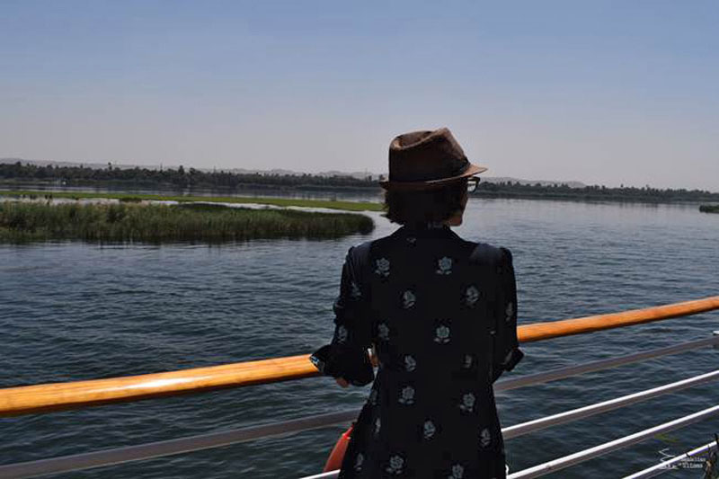 Los barcos que navegan por el Nilo