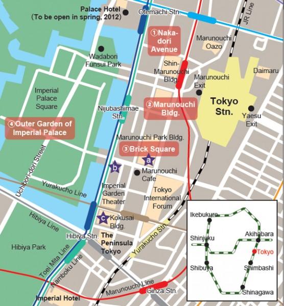 6 Mapa Marunouchi Tokyo