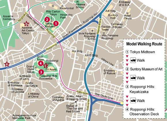 8 Mapa Roppongi Tokyo
