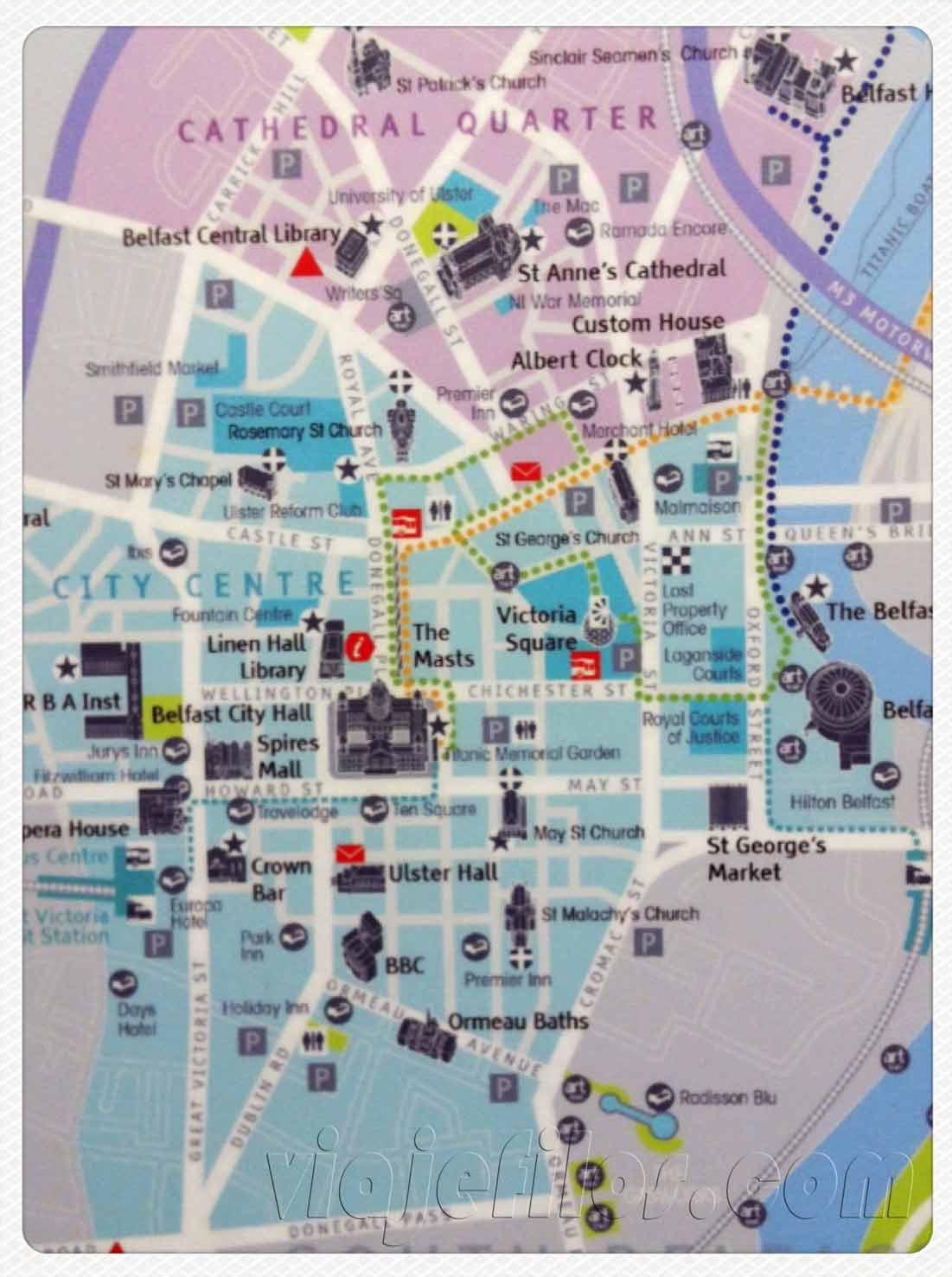 Mapa de Belfast