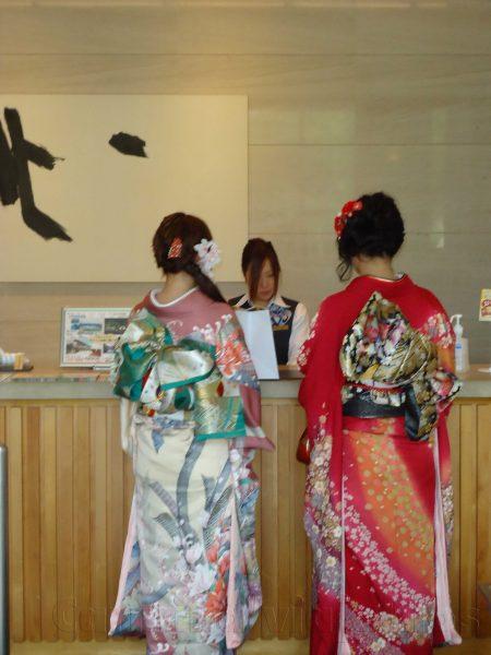 Kimonos en Japon