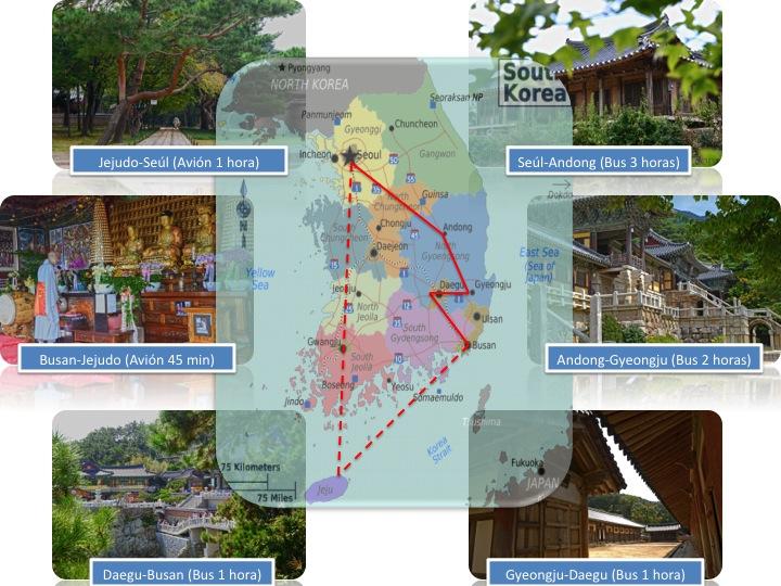 Itinerario de viaje de 2 semanas en Corea