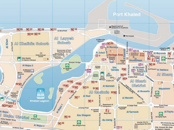 Mapa Abu Dhabi, la mejor de las visitas con niños