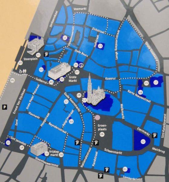 Mapa Amberes