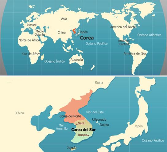 Dónde esta Corea