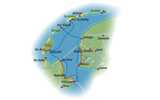 Mapa Frisias