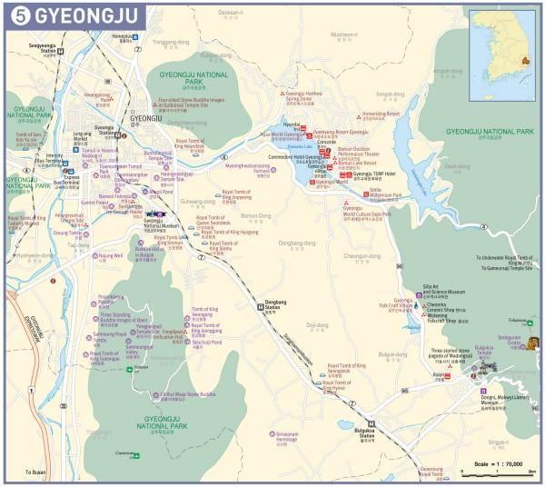 Mapa de Gyeongju