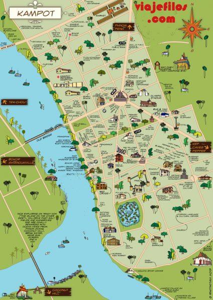 Mapa Kampot