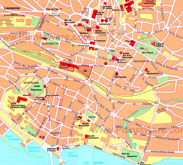 Mapa-Lausana