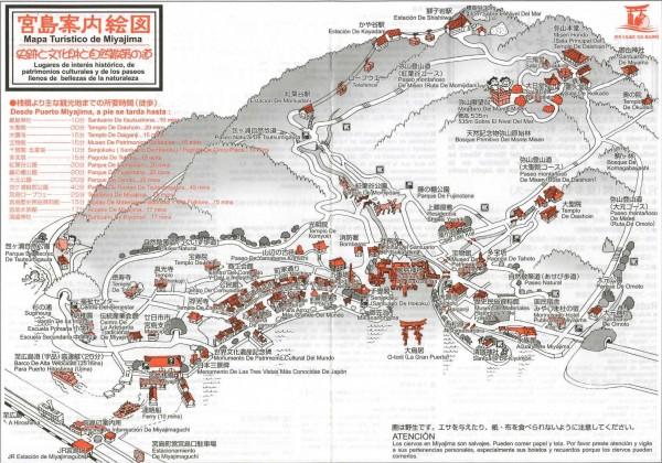 Mapa del recorrido por Miyajima