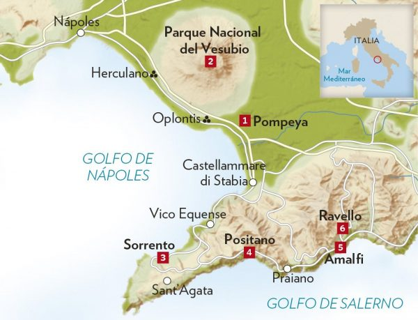 Ruinas De Pompeya Mapa.En Tren A Pompeya Desde Napoles Viajefilos Com