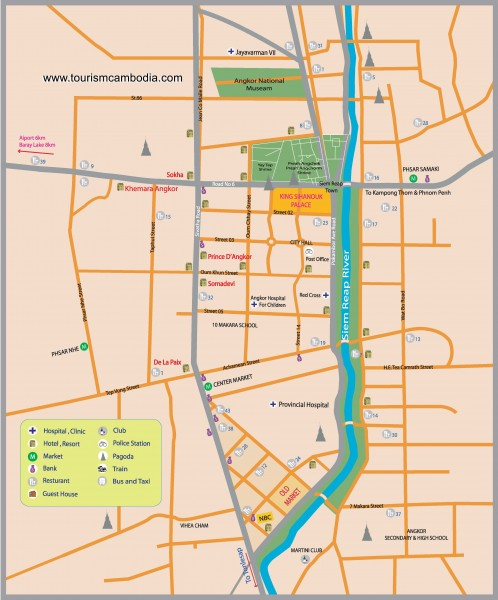 Mapa de Siem Reap