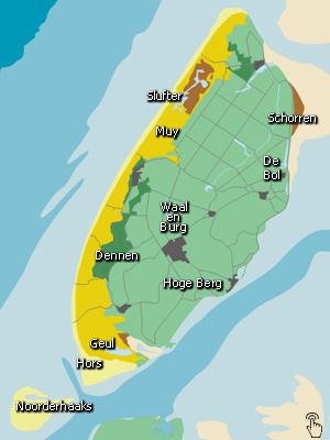 Mapa Texel