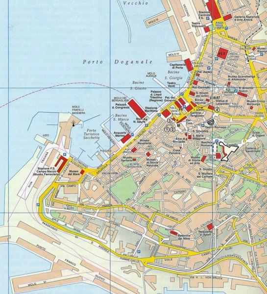 Mapa Turismo Trieste