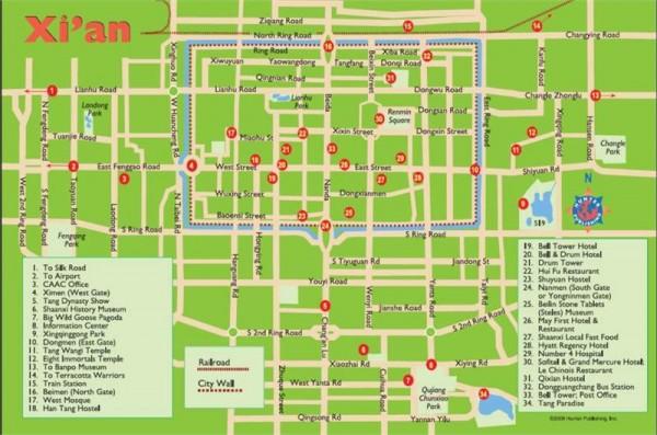 Mapa Xian
