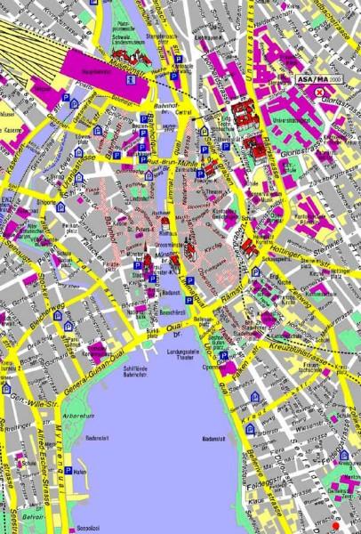 Mapa-Zurich