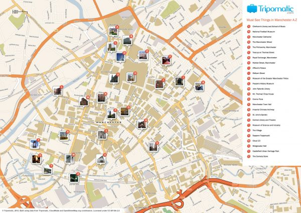 Mapa turismo Manchester