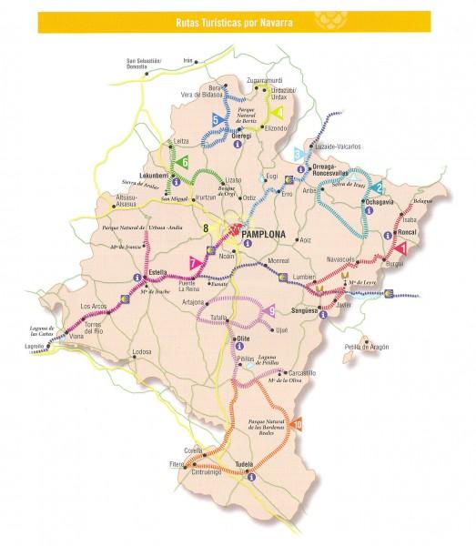 Mapa turismo Navarra