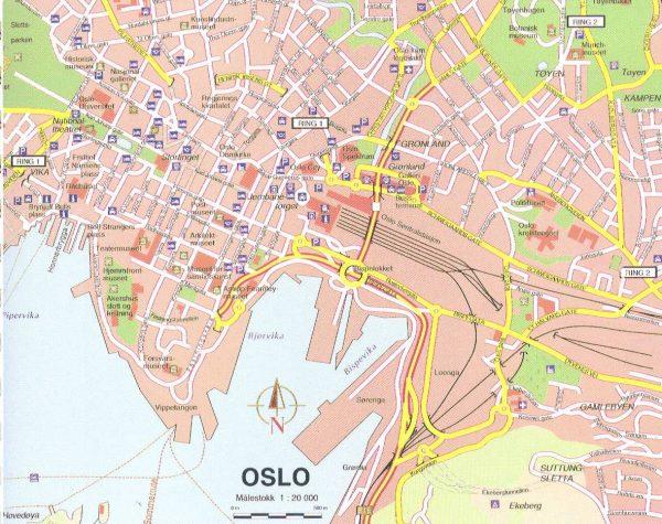 Mapa turismo Oslo