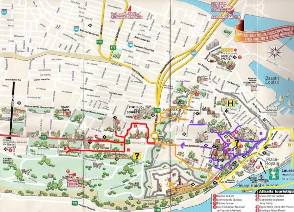 Mapa turismo Quebec