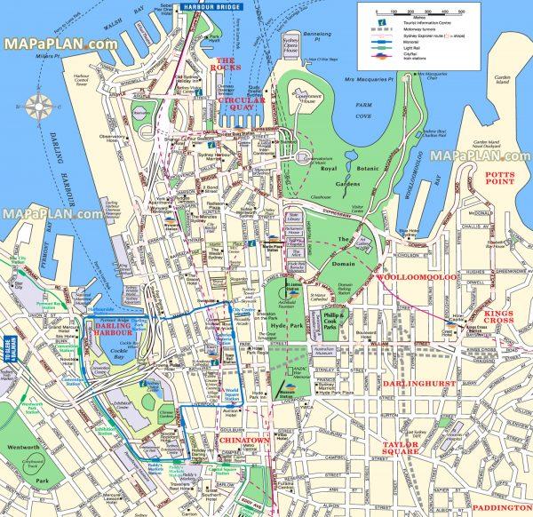 Mapa de Sydney, recorriendo Australia en autocaravana