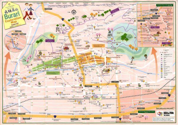 Mapa turismo Takayama