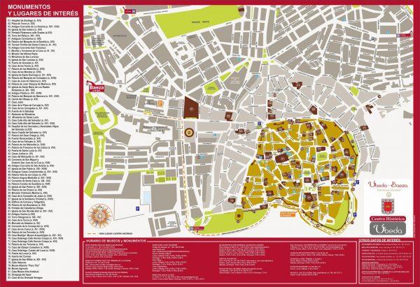Mapa turismo Ubeda
