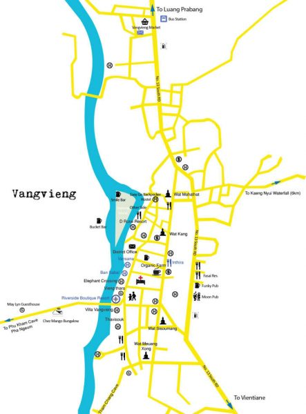 Mapa turismo Vang Vieng