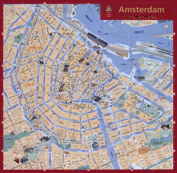 Mapa turistico Amsterdam
