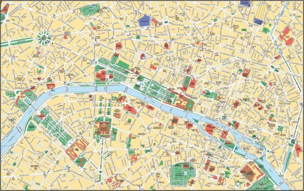Mapa turistico Paris
