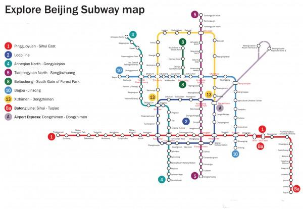 Mapa metro Beijing